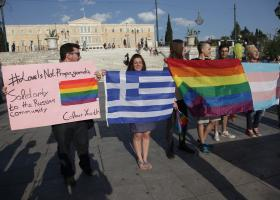 Διαμαρτυρία ομοφυλοφίλων στο Σύνταγμα, με αφορμή την επίσκεψη Πούτιν - Κεντρική Εικόνα