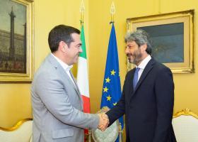 Στο τραπέζι των επαφών Τσίπρα στη Ρώμη η ελληνική οικονομία - Κεντρική Εικόνα