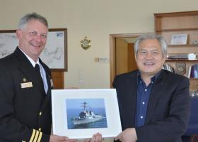 H Cosco υποδέχθηκε το πλήρωμα αντιτορπιλικού των ΗΠΑ στον Πειραιά - Κεντρική Εικόνα