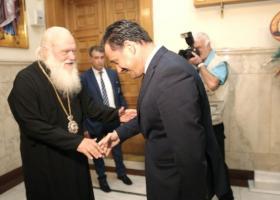 Συνάντηση του Αρχιεπισκόπου Ιερωνύμου με τον Άδωνι Γεωργιάδη - Κεντρική Εικόνα