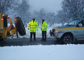 Ποιοι δρόμοι της Αττικής είναι κλειστοί λόγω χιονόπτωσης - Κεντρική Εικόνα