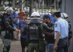 Αποχώρησαν οι διαδηλωτές έξω από τη ΔΕΘ - Τέσσερις προσαγωγές από την Αστυνομία - Κεντρική Εικόνα