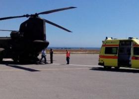 Αερομεταφορά πολυτραυματία από τη Μήλο στην Αθήνα με ελικόπτερο της Αεροπορίας Στρατού - Κεντρική Εικόνα