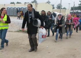 Νέα διαμαρτυρία από πρόσφυγες στα Διαβατά - Κεντρική Εικόνα