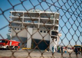 Έσβησε η φωτιά στο πλοίο «Ελευθέριος Βενιζέλος» - Κεντρική Εικόνα