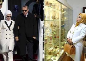 Βουτηγμένη στη χλιδή η Εμινέ Ερντογάν: Το τσάι των 1.800 ευρώ σε ποτήρια από φύλλα χρυσού! (photos) - Κεντρική Εικόνα