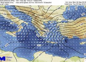 Ξενοφών: H πρώτη ισχυρή κακοκαιρία του φθινοπώρου «χτυπά» από σήμερα τη χώρα (χάρτες) - Κεντρική Εικόνα