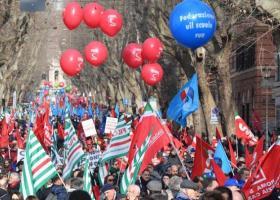 Ιταλία: Στους δρόμους τα συνδικάτα για τη δημιουργία θέσεων εργασίας - Κεντρική Εικόνα