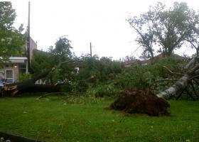 Καταστροφές από θυελλώδεις ανέμους και σφοδρή καταιγίδα στα Τρίκαλα - Κεντρική Εικόνα