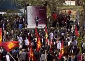 Τι έκαναν τα μέλη του ΚΚΕ στην Αμαλιάδα όταν ανέβηκε ο Τσίπρας στο βήμα - Κεντρική Εικόνα