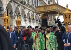 Κέρκυρα: Κυριακή των «Βαγιώνε» και η μεγαλύτερη λιτανεία του σκηνώματος του Αγίου Σπυρίδωνος - Κεντρική Εικόνα