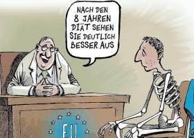 Στο τέλος του ελληνικού προγράμματος είναι αφιερωμένη η γελοιογραφία του Der Spiegel - Κεντρική Εικόνα