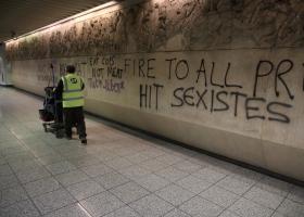 Μετρό Ακρόπολη: Συνθήματα σε σταθμό και αγάλματα - Το λάθος των κουκουλοφόρων που τους οδήγησαν στα χέρια της ΕΛΑΣ (Photos) - Κεντρική Εικόνα