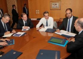 Επίσκεψη Κυριάκου Μητσοτάκη στο υπουργείο Μεταφορών - Κεντρική Εικόνα