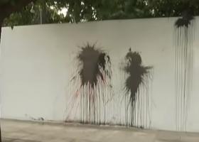 Επίθεση με μπογιές στο σπίτι του Αμερικανού Πρέσβη Τζέφρι Πάιατ (video) - Κεντρική Εικόνα