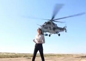 Ατρόμητη ρεπόρτερ παραλίγο να αποκεφαλιστεί από ελικόπτερο! (Video) - Κεντρική Εικόνα