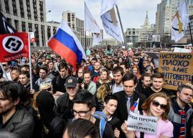 Διαδηλώσεις στη Ρωσία κατά της εφαρμογής πιο αυστηρών περιορισμών στο διαδίκτυο - Κεντρική Εικόνα