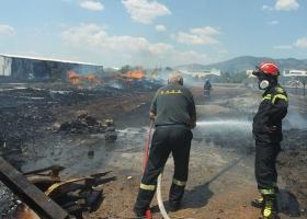 Καταστράφηκε πλήρως το εργοστάσιο ανακύκλωσης στη Σίνδο - Κεντρική Εικόνα
