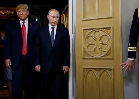 Ένας διαδηλωτής παρεισέφρυσε στην αίθουσα όπου θα έδιναν συνέντευξη Τύπου ο Τραμπ και ο Πούτιν - Κεντρική Εικόνα