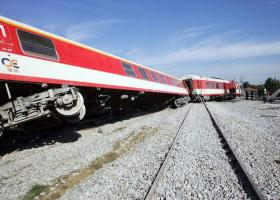 Εκτροχιασμός τρένου στην Κατερίνη - Κεντρική Εικόνα