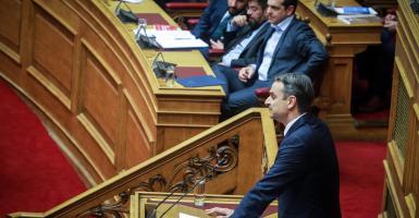 Μητσοτάκης: Πλειοψηφία ΣΥΡΙΖΑ με βουλευτές «τριγύριζα» - Κεντρική Εικόνα