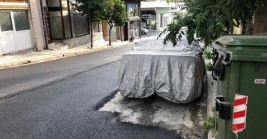 Ασφαλτόστρωση... εξοικονόμησης και προχειρότητας αλά ελληνικά! (photos) - Κεντρική Εικόνα