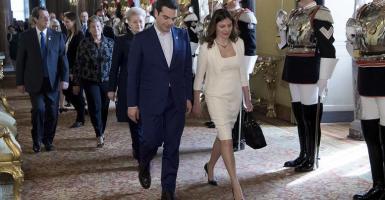 Ο Αλέξης Τσίπρας με τη Μπέτυ Μπαζιάνα στο επίσημο γεύμα στη Ρώμη (photos) - Κεντρική Εικόνα