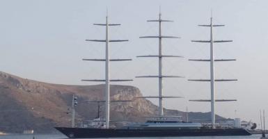 Στη Λέρο «έδεσε» το «Γεράκι της Μάλτας», το μεγαλύτερο ιστιοφόρο του κόσμου (photos) - Κεντρική Εικόνα