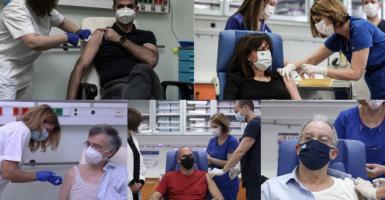 Ξεκίνησαν οι εμβολιασμοί κατά του κορωνοϊού στην Ελλάδα - Κεντρική Εικόνα
