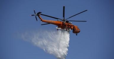 Πυρκαγιά και στο Μαρκόπουλο Αττικής - Κεντρική Εικόνα