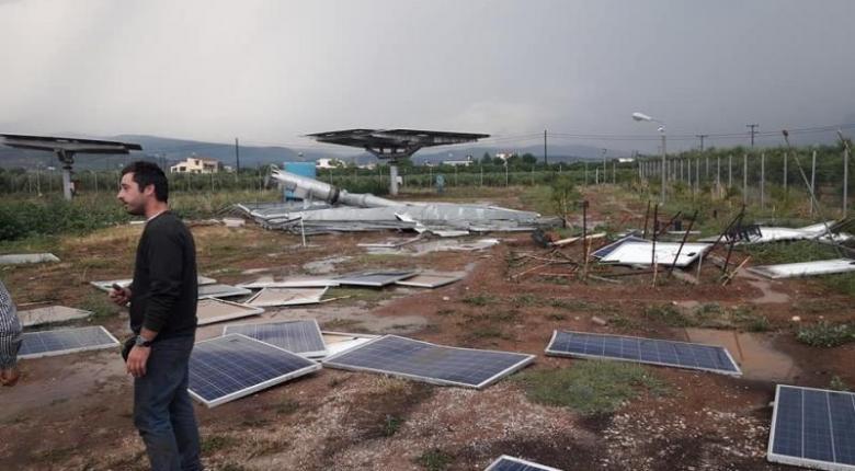 Χαλάζι, πλημμύρες και μεγάλες καταστροφές στην Αργολίδα (Video) - Κεντρική Εικόνα
