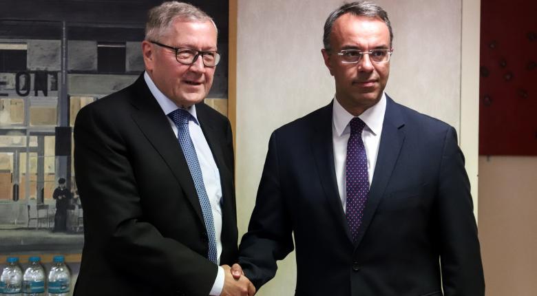 Σε συνέχιση της εποικοδομητικής συνεργασίας συμφώνησαν Ρέγκλινγκ - Σταϊκούρας - Κεντρική Εικόνα