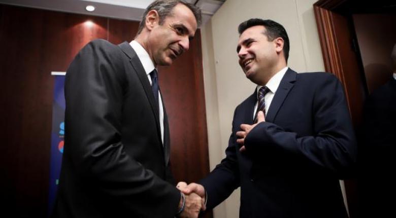 Μητσοτάκης σε Ζάεφ: Η συμφωνία των Πρεσπών, προϋπόθεση για την ευρωπαϊκή πορεία της Β. Μακεδονίας - Κεντρική Εικόνα