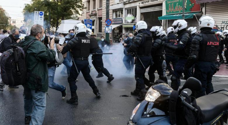 Όργιο αστυνομικής βίας σε βάρος διαδηλωτών που τηρούσαν τα μέτρα προστασίας - Κεντρική Εικόνα
