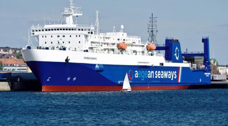 Αποτέλεσμα εικόνας για Εγκαινιάζεται η ακτοπλοϊκή σύνδεση Τσεσμέ-Λαύριο με το πλοίο τύπου ROPAX Aegean Seaways