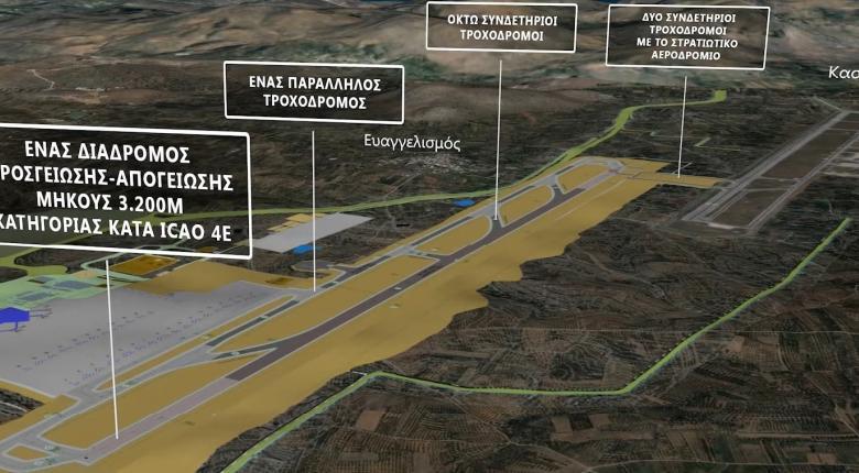 Έτσι θα είναι το νέο αεροδρόμιο στο Καστέλι - Η τοποθεσία, οι εγκαταστάσεις και οι νέοι αυτοκινητόδρομοι (Video) - Κεντρική Εικόνα