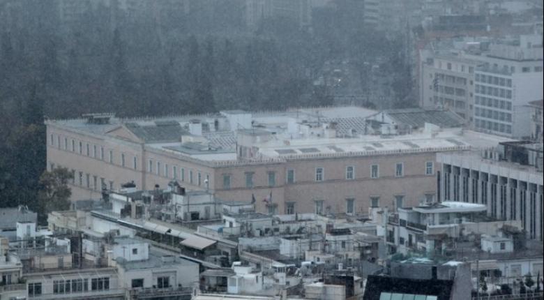 Χιόνια ακόμα και στην Αττική έφερε ο «Τηλέμαχος» - Κεντρική Εικόνα