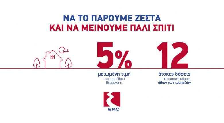 H EKO επαναφέρει την μεγάλη προσφορά για το Πετρέλαιο Θέρμανσης - Κεντρική Εικόνα