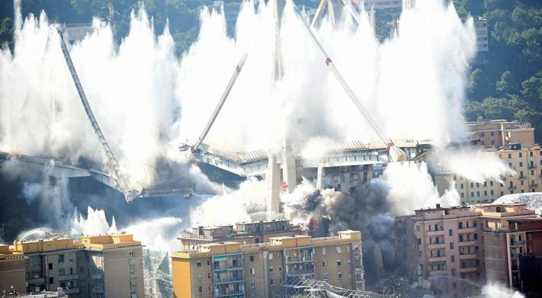 Κατεδαφίστηκε η γέφυρα της Γένοβας ένα χρόνο μετά την τραγωδία (video+photos) - Κεντρική Εικόνα
