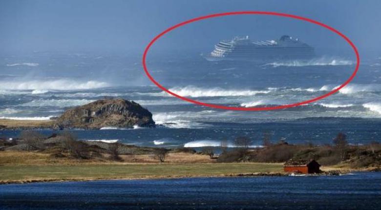 Νορβηγία: Το κρουαζιερόπλοιο Viking Sky έφθασε στο λιμάνι του Μόλντε - Κεντρική Εικόνα