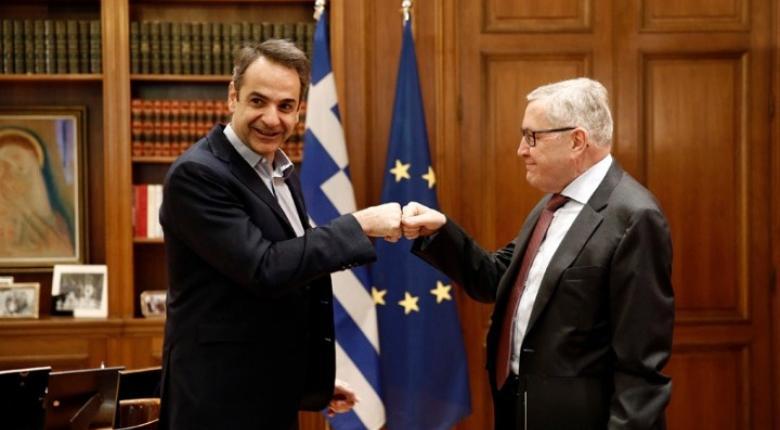 Συνάντηση του πρωθυπουργού με τον επικεφαλής του ΕSM, Κλάους Ρέγκλινγκ - Κεντρική Εικόνα
