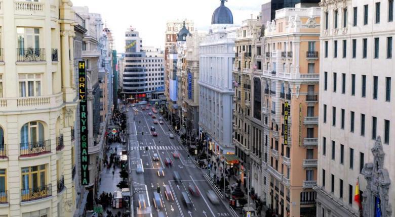 Η Μαδρίτη περιορίζει την κυκλοφορία των αυτοκινήτων στο κέντρο της πόλης - Κεντρική Εικόνα