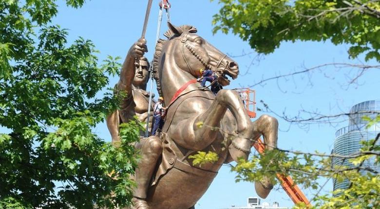 Σκόπια: Ο Μέγας Αλέξανδρος... επιστρέφει στο μνημείο του «έφιππου πολεμιστή» - Κεντρική Εικόνα