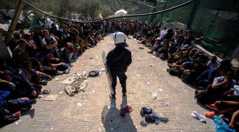Επιχείρηση της αστυνομίας στον καταυλισμό στη Μόρια - Κεντρική Εικόνα