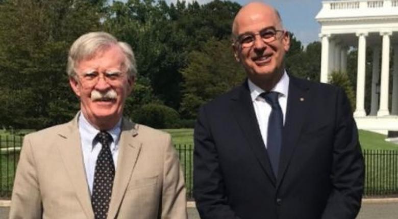 Για την ενδυνάμωση της στρατηγικής σχέσης μεταξύ Ελλάδας και ΗΠΑ συζήτησε ο Ν. Δένδιας με τον Τζ. Μπόλτον - Κεντρική Εικόνα