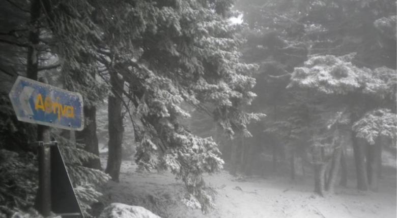 Κι όμως, ο χιονιάς πλήττει σήμερα την Αττική! (video) - Κεντρική Εικόνα