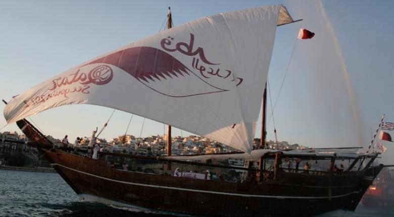 Στην Κέρκυρα το ξύλινο σκάφος του Κατάρ, στο πλαίσιο προώθησης του Μουντιάλ 2022 - Κεντρική Εικόνα