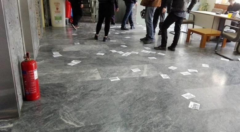 Απόπειρα εισβολής του Ρουβίκωνα στο Υπουργείο Προστασίας του Πολίτη - Κεντρική Εικόνα