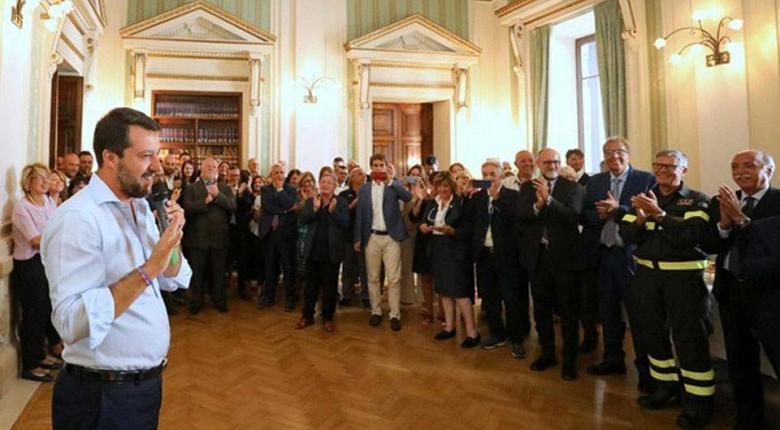 Ιταλία: Διαδηλώσεις Σαλβίνι κατά της συμφωνίας 5 Αστέρων και PD - Κεντρική Εικόνα