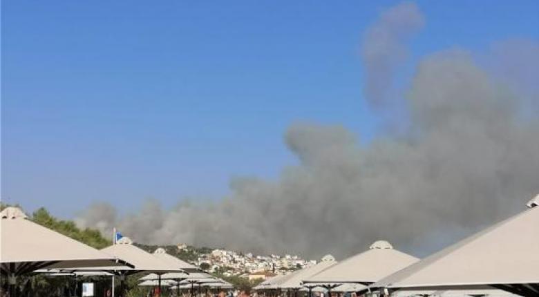 Μεγάλη φωτιά στη Σάμο - Εκκενώθηκαν 2 ξενοδοχεία - Κεντρική Εικόνα